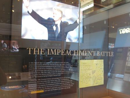 Clinton Library Impeachment Exhibit