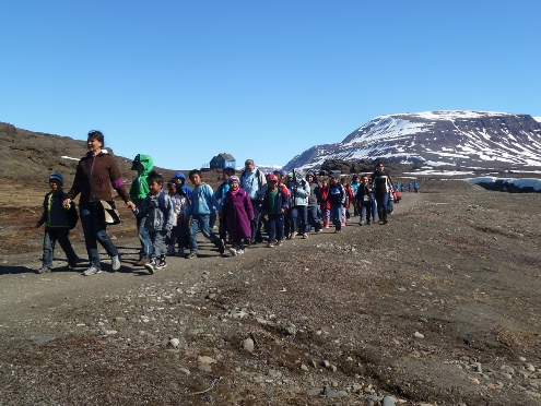 Greenland school children