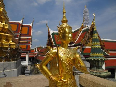 Gold statue at Bangkok's Grand Palace