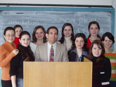 Dan Fellner's Moldova State University journalism class