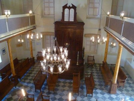Inside Barbados synagogue