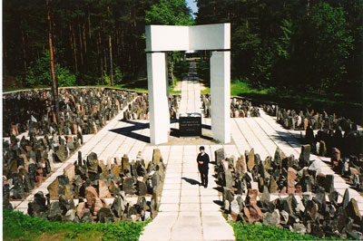 Jewish memorial in Latvia's Bikernieku Forest