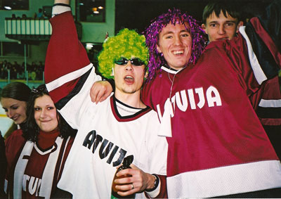 Latvian hockey fans