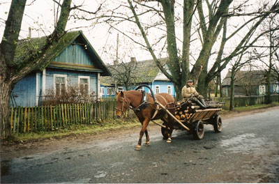 Rural village in Belarus