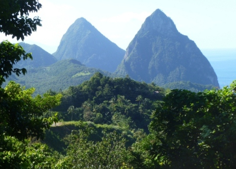 St Lucia's Pitons