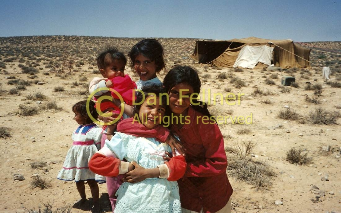 Bedouin children in Jordan
