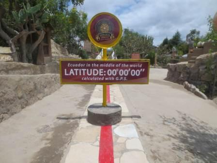 equator line in ecuador