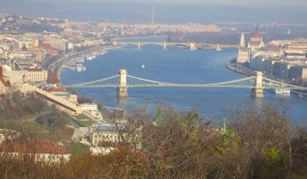 Winter on the Danube River