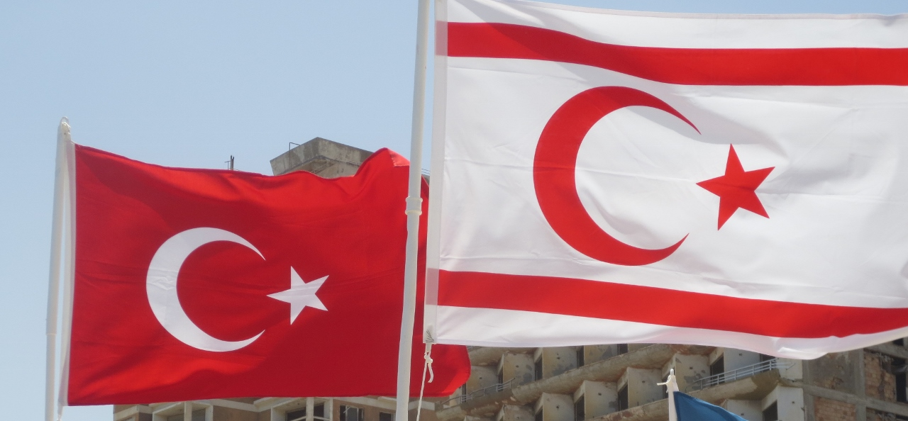 Turkey flag in Cyprus