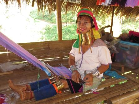 A member of the Padaung long-neck hill tribe