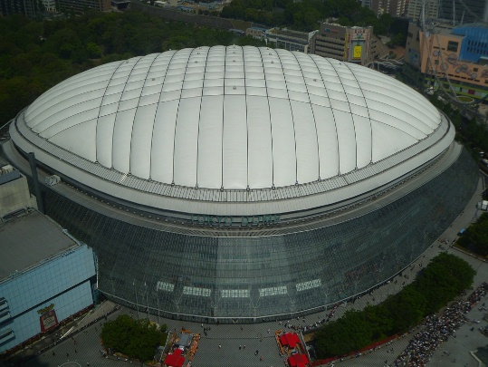 View of the Tokyo Dome from above