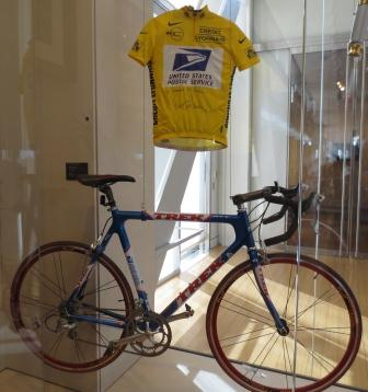Lance Armstrong exhibit at Clinton Library