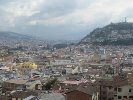 View of Quito Ecuador
