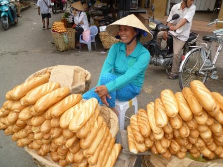 Vietnamese bread vendor