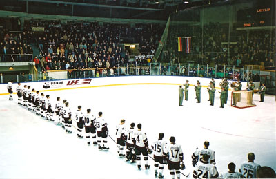 Latvia's national hockey team