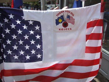 Pro-American shirt for sale in Kosovo