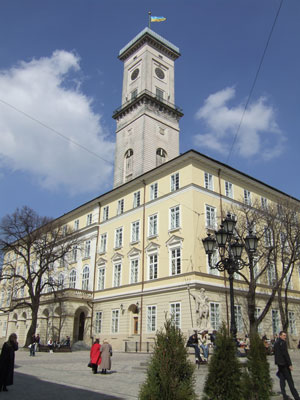 Lvov Town Hall Clock Tower