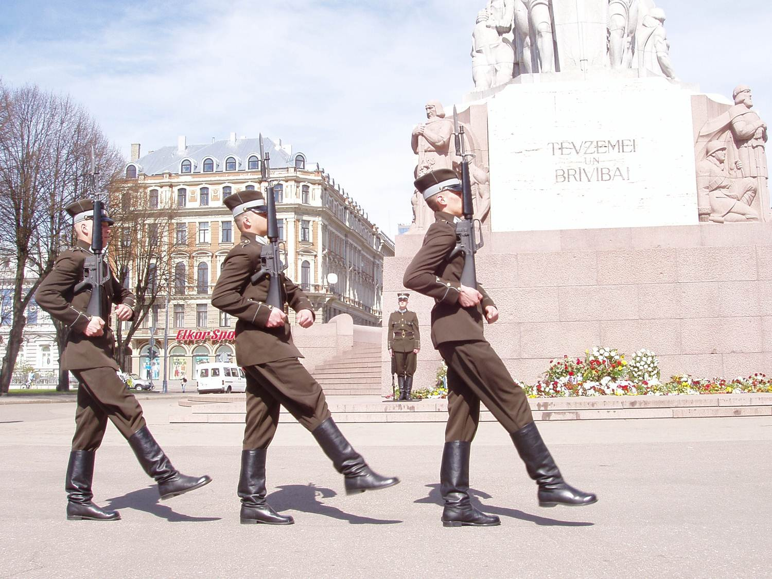 Riga Latvia changing of the guard