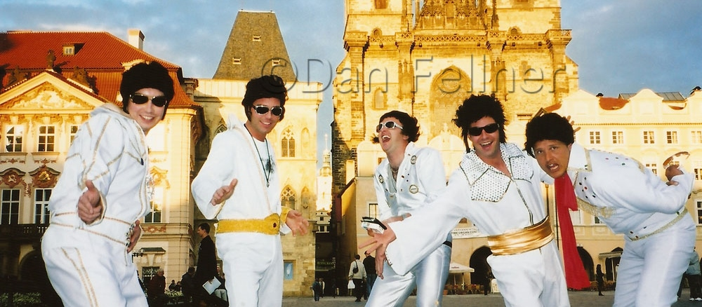 Elvis impersonators in Prague