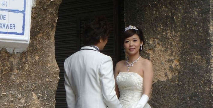 Macau bridal couple
