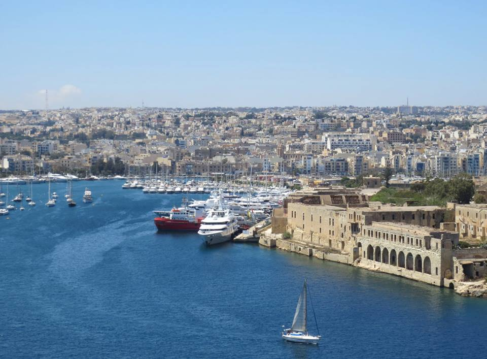 view of valleta malta harbor