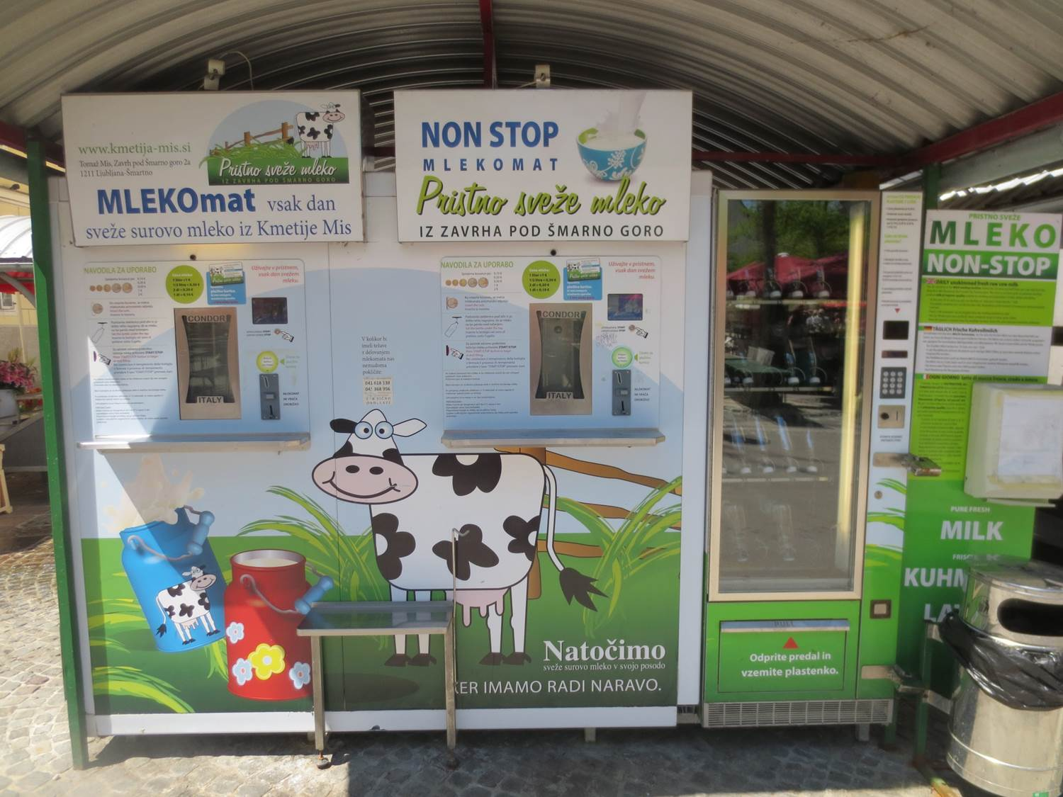 Slovenia milk machine