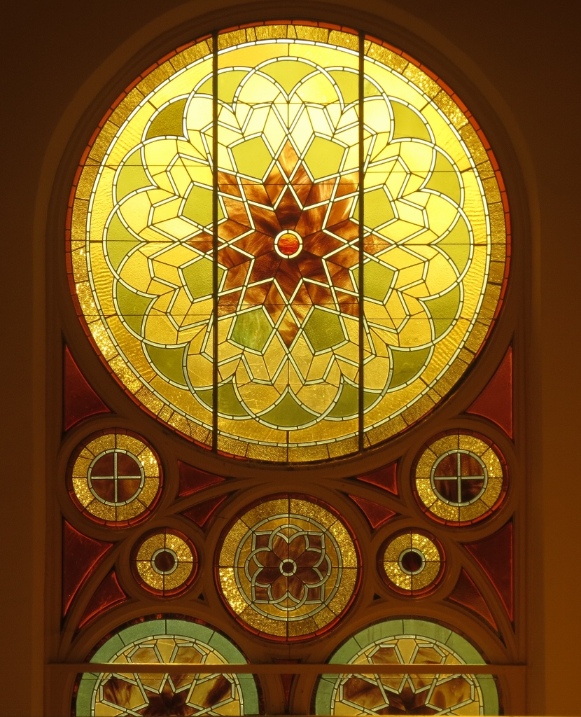 Ahavath Beth Israel stained-glass windows