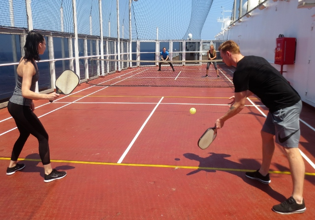 Pickleball at sea